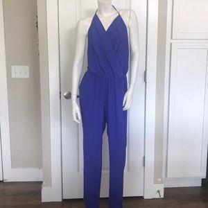 75a17989712 Amanda Uprichard Blue halter Jumpsuit Size L